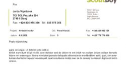 Objednavka MS Office šablona