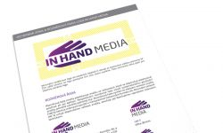Náhled jedné stránky logomanuálu InHand