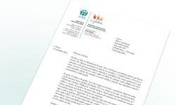 Náhle hlavičkového papíru ADRA se zapracovaným logem projektu BanglaKids